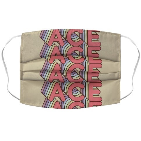 ACE Retro Rainbow Face Mask