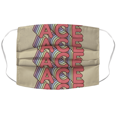ACE Retro Rainbow Face Mask Cover
