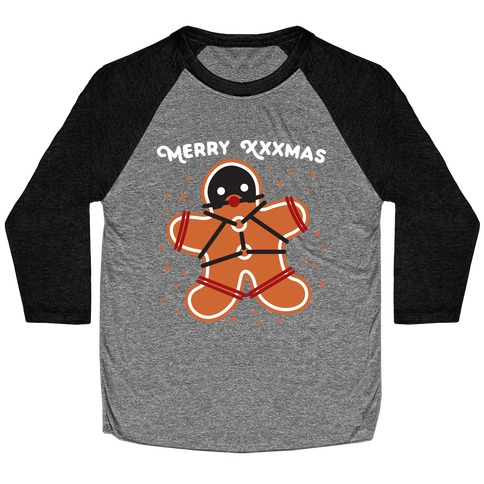 Merry XXXmas Gingerbread Baseball Tee