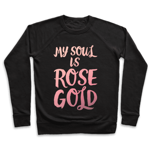 My Soul Is Rose Gold White Print