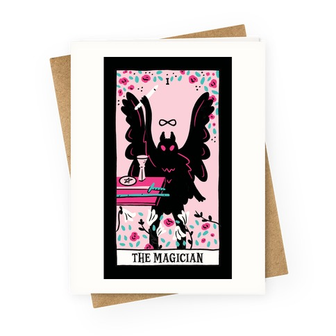 The Magician Mothman Tarot Greeting Card