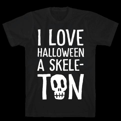 I Love Halloween A Skele-Ton Mens T-Shirt