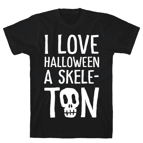 I Love Halloween A Skele-Ton Mens T-Shirt