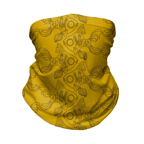 Goldfish Pattern Neck Gaiter