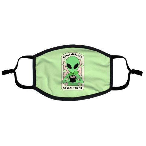 Otherworldly Green Thumb Flat Face Mask