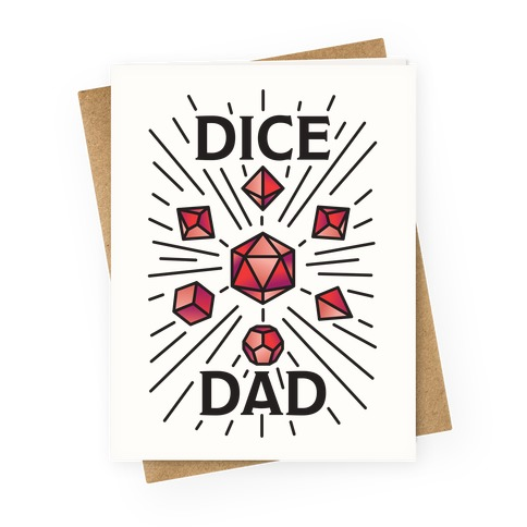 Dice Dad Greeting Card