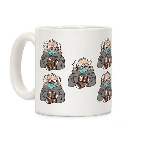 Bernie Sanders Mittens Pattern Coffee Mug