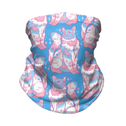 Transgender Pride Cat Neck Gaiter