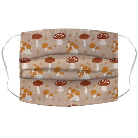 Forest Mushroom Boho Pattern Face Mask Cover