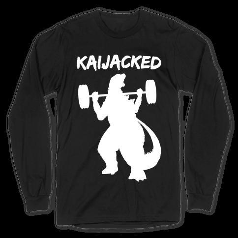 Kaijacked Kaiju Gozilla Long Sleeve T-Shirt