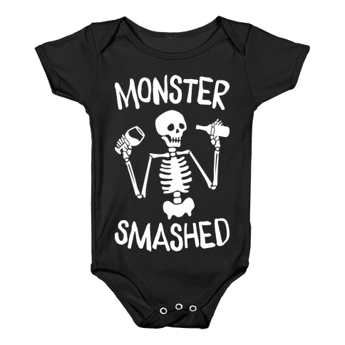 Monster Smashed (White) Baby Onesy