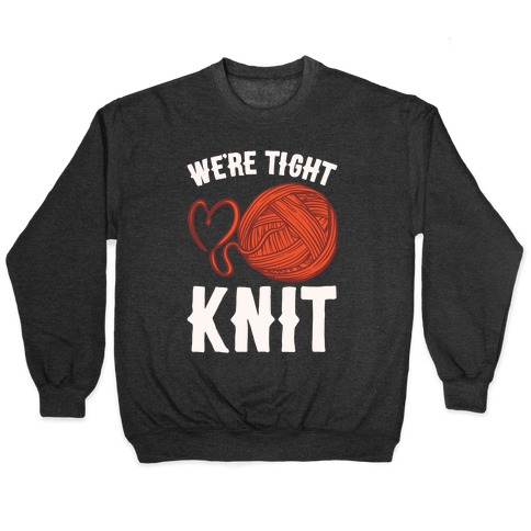 We're Tight Knit (Red Yarn) Pairs Shirt White Print Pullover