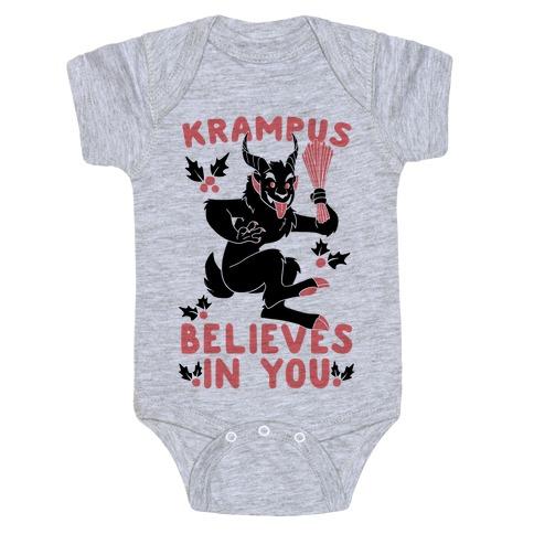 Krampus Believes in You Baby Onesy