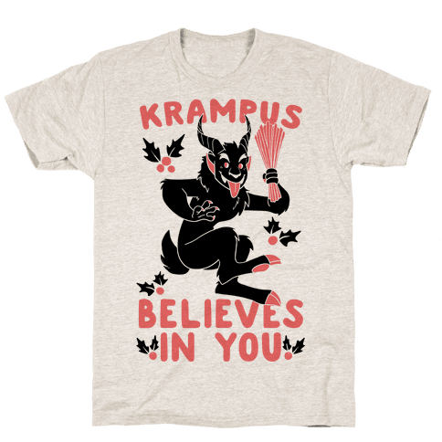 Krampus Believes in You Mens T-Shirt