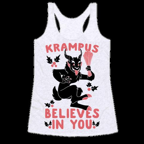 Krampus Believes in You Racerback Tank Top