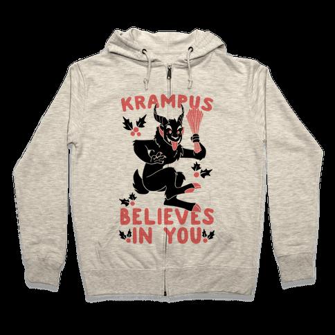 Krampus Believes in You Zip Hoodie