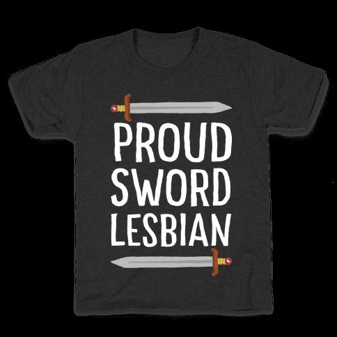 Proud Sword Lesbian Kids T-Shirt