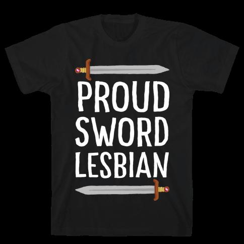 Proud Sword Lesbian Mens T-Shirt