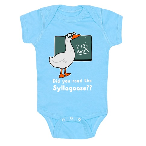 Did You Read the Syllagoose? Baby Onesy