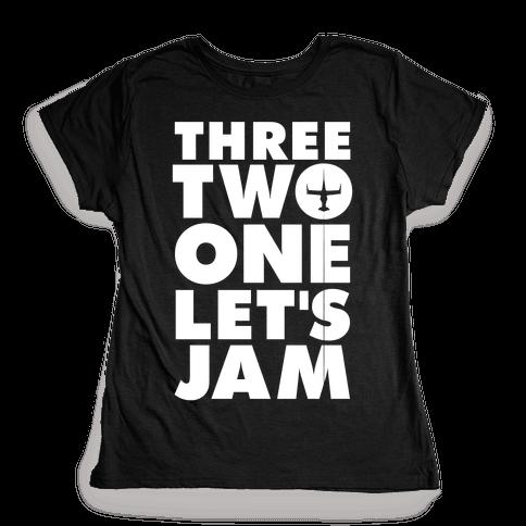 Three Two One Let's Jam Cowboy Bebop Womens T-Shirt
