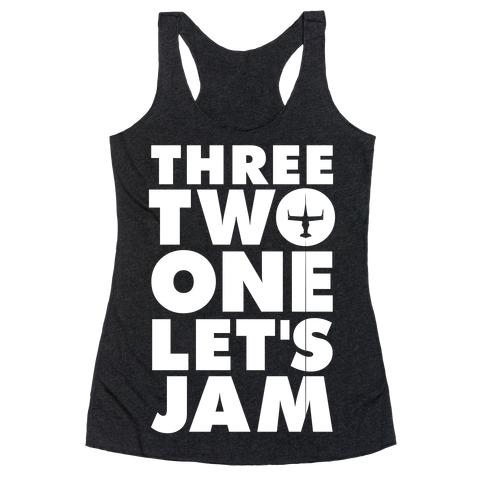 Three Two One Let's Jam Cowboy Bebop Racerback Tank Top