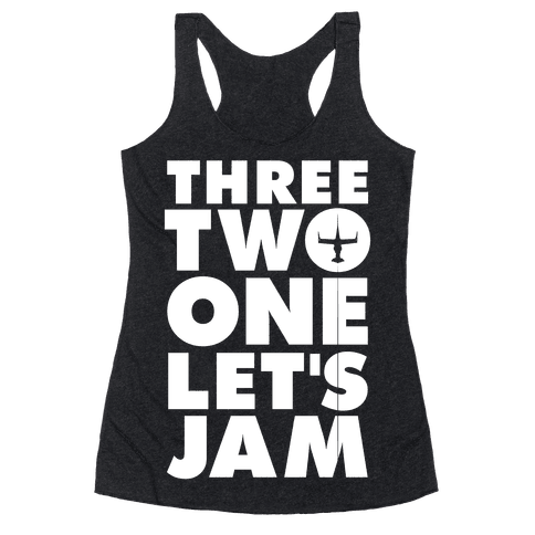 Three Two One Let's Jam Cowboy Bebop Racerback Tank Top