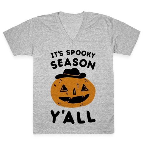 It's Spooky Season Y'all V-Neck Tee Shirt