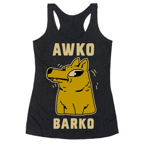 Awko Barko Racerback Tank Top