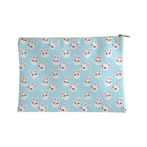 BunBun Pattern Blue Accessory Bag