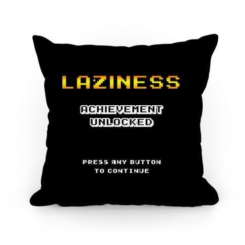 Laziness Achievement Unlocked Pillow