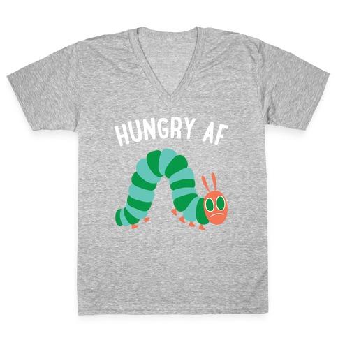 Hungry AF Caterpillar V-Neck Tee Shirt