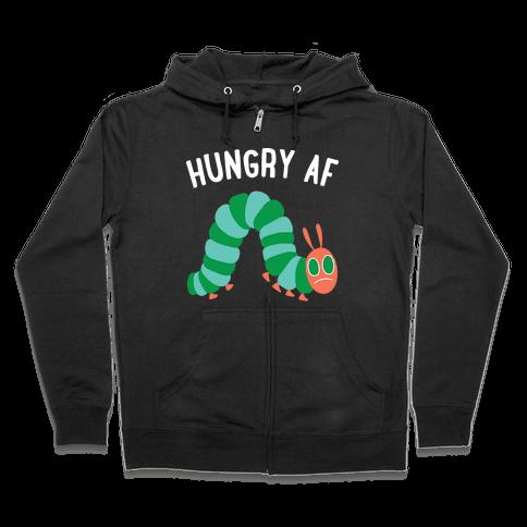 Hungry AF Caterpillar Zip Hoodie