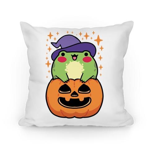 Cute Halloween Frog Pillow