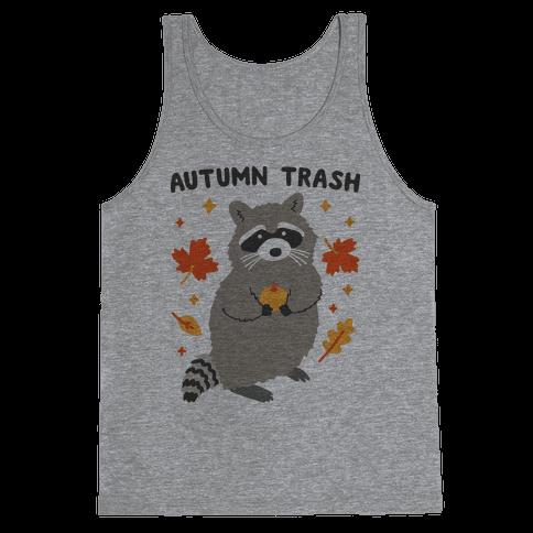 Autumn Trash Raccoon Tank Top