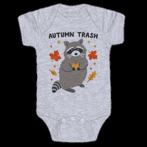 Autumn Trash Raccoon Baby Onesy