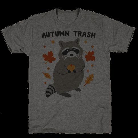 Autumn Trash Raccoon Mens T-Shirt