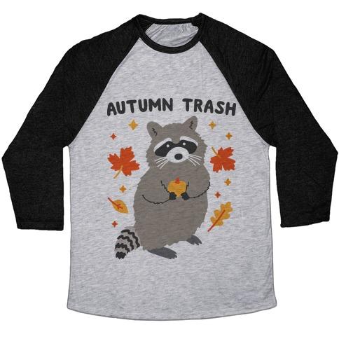 Autumn Trash Raccoon Baseball Tee