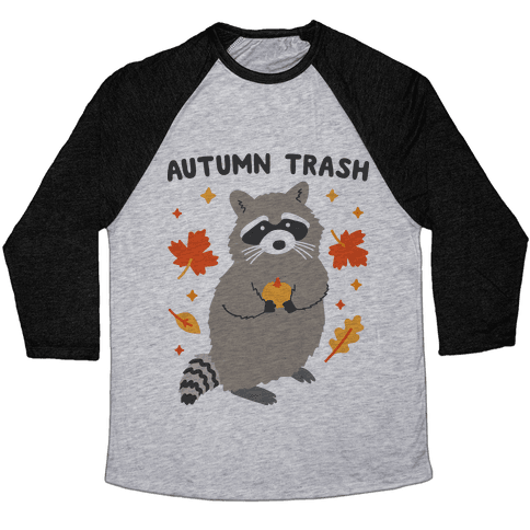 Autumn Trash Raccoon Baseball Tee