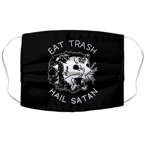 Eat Trash Hail Satan Possum Face Mask