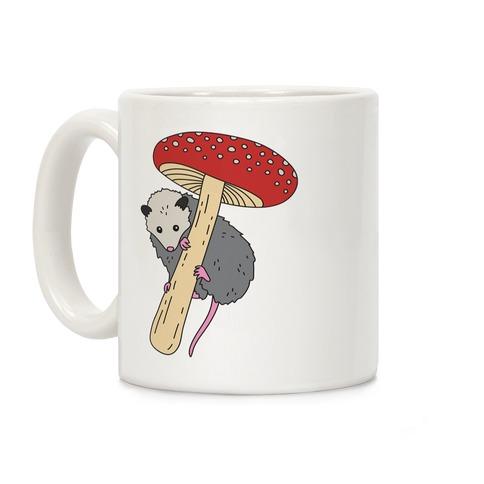 Opossum Mushroom Coffee Mug