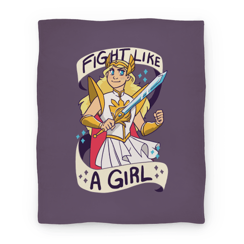 Fight Like a Girl Blanket