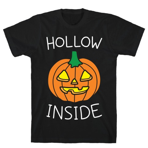Hollow Inside (White) Mens T-Shirt