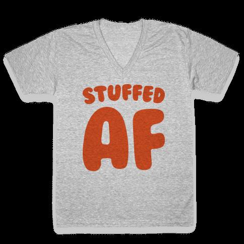 Stuffed AF V-Neck Tee Shirt