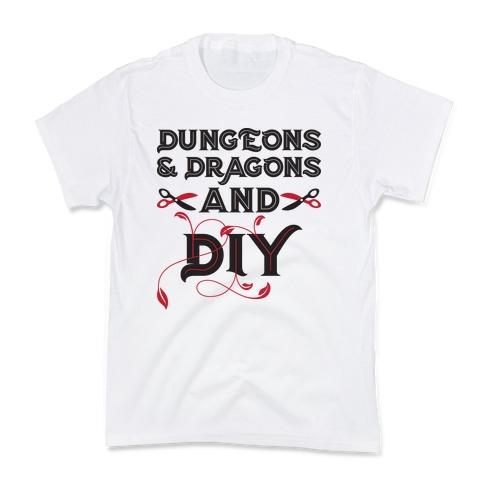 Dungeons & Dragons And DIY Kids T-Shirt