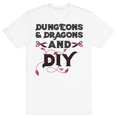 Dungeons & Dragons And DIY T-Shirt