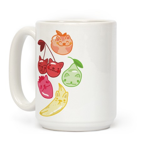 Kawaii Fruit Kitties Coffee Mug