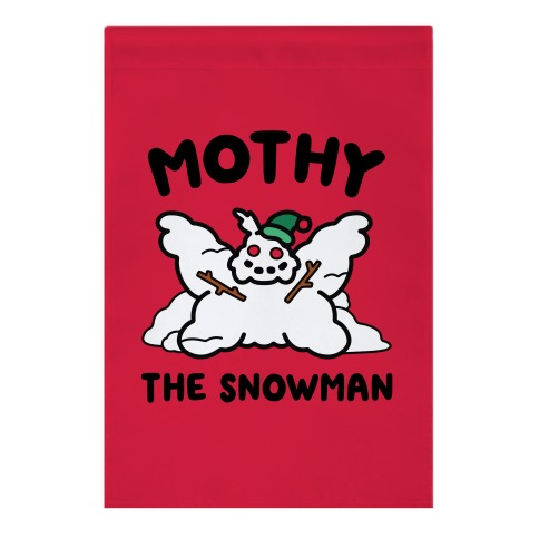 Mothy the Snowman Garden Flag