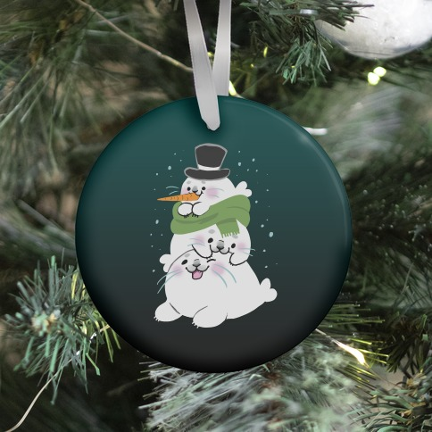 Seal Stack Snowman Ornament