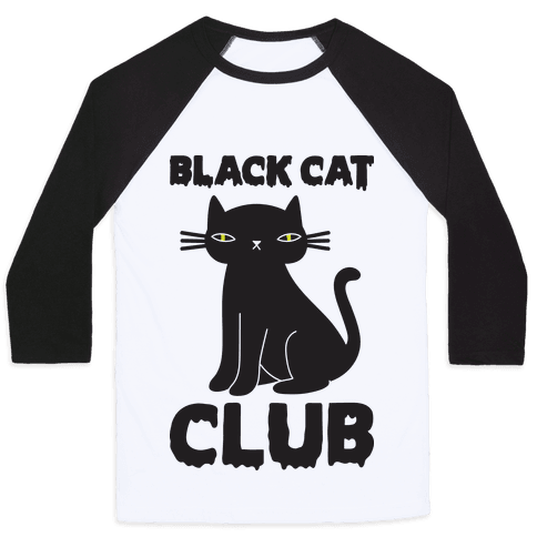 Black Cat Club Baseball Tee
