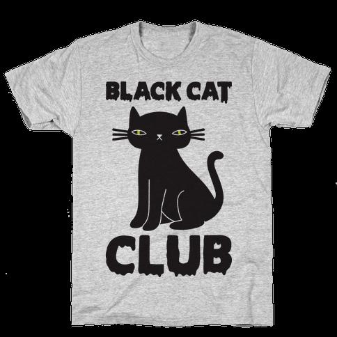 Black Cat Club Mens T-Shirt